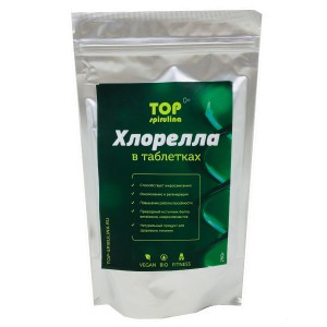 Хлорелла таблетки 250 гр TOP spirulina